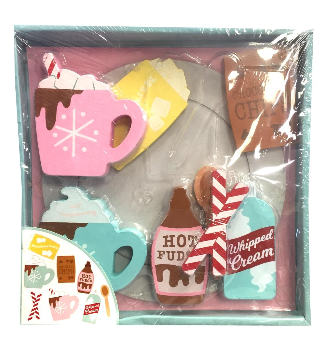 Wooden 8 Piece Play Food Hot chocolate Set