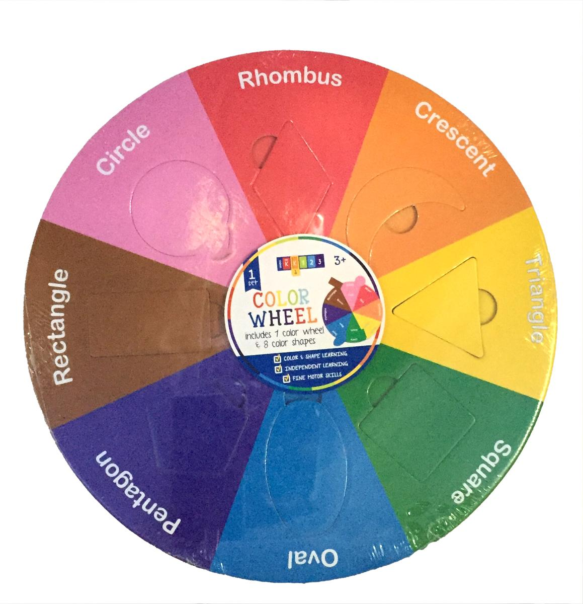 Wooden Shape and Color Wheel
