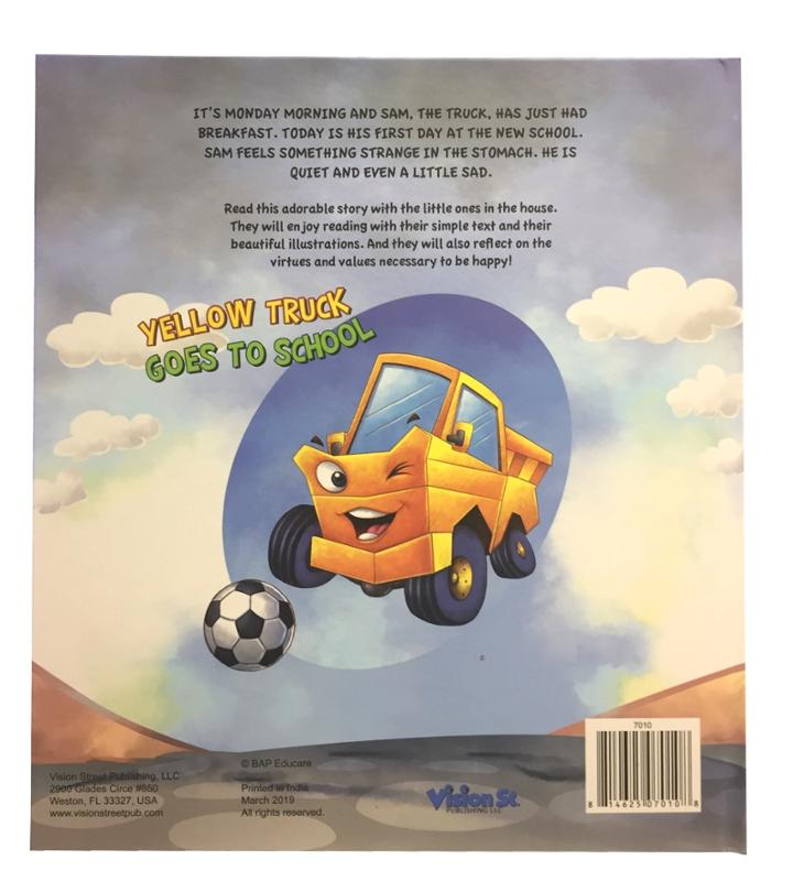 Yellow Truck Goes To School Story Book