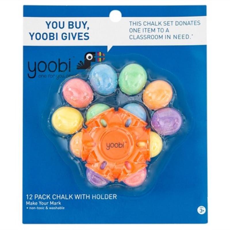 Yoobi 12 Pack Chalk with Holder